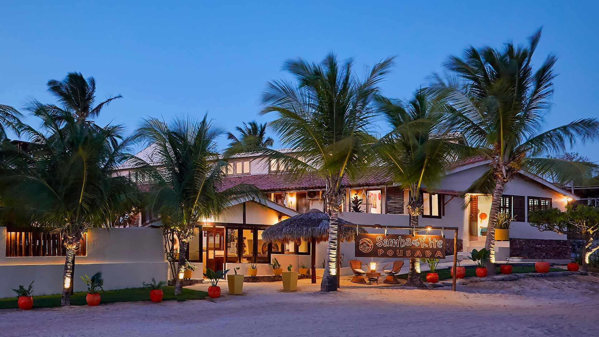 Front photo of the inn in Jericoacoara